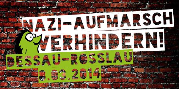 Nazi Aufmarsch Dessau Grafik